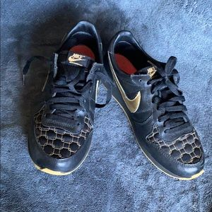Black and Gold Nike's